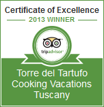 Winner: Certificate of Excellence 2013 | Torre del Tartufo Cooking Vacations Tuscany